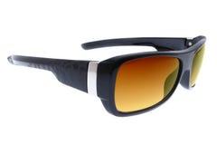 солнечные очки backgro черным изолированные способом белые Стоковые Изображения RF