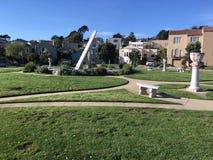 Солнечные часы Urbano, терраса Ingleside, Сан-Франциско, 13 Стоковые Фотографии RF