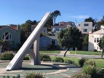 Солнечные часы Urbano, терраса Ingleside, Сан-Франциско, 11 Стоковые Фотографии RF