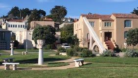 Солнечные часы Urbano, терраса Ingleside, Сан-Франциско, 2 Стоковое фото RF