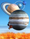 солнечный взгляд системы солнца Стоковые Фото