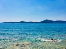 Солнечный вид на море Адриатического моря лета стоковая фотография rf