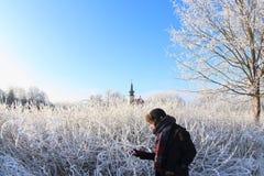 Солнечный день зимы Стоковое Изображение RF
