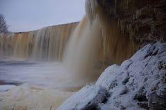 Солнечный день на водопаде Jagala Стоковая Фотография