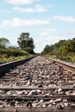 Солнечный день на железной дороге стоковое изображение