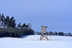 Солнечный зимний день в Литве Стоковые Фотографии RF