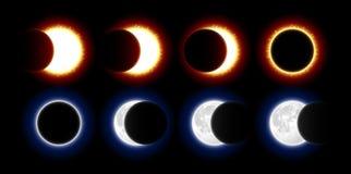 Солнечный и лунное затмение бесплатная иллюстрация