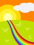Солнечный ландшафт Стоковые Изображения RF