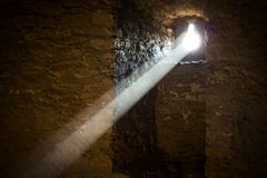 Солнечный луч в замке стоковое изображение