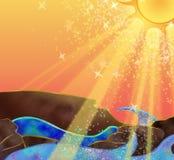 Солнечный океан Стоковые Изображения RF