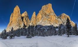 Солнечный свет на горах Стоковое Фото