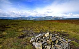 Солнечный свет на горах Derwent Стоковое Изображение