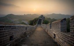 Солнечный свет покрасил пейзаж большого ŒChina-востока Азии ¼ Wallï стоковые фотографии rf