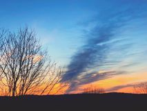 Солнечный свет приходя через облака Стоковая Фотография RF