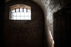 Солнечный свет тюрьмы Мельбурна стоковое фото rf