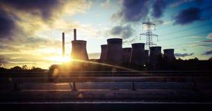 Солнечный свет электростанции стоковое фото rf
