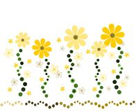 Солнечный цветок Deco стоковые изображения rf