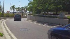 Солнечный штейновый вход шоссе акции видеоматериалы