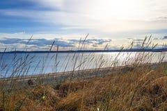 Солнечный seascape с видом на океан стоковое фото