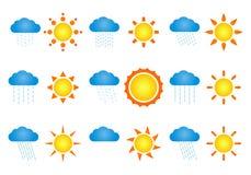 солнца облаков Стоковое Изображение