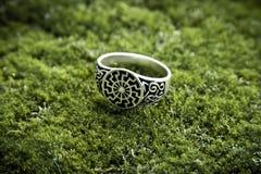солнцеворот кольца серебряный стоковое фото rf