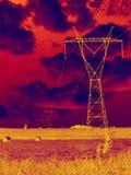 солнцеворот электричества стоковое изображение rf