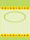 солнцецветы карточки Стоковые Фотографии RF