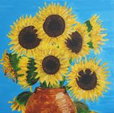 солнцецветы шара медные Стоковое Фото