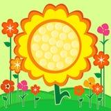 солнцецвет лета карточки Стоковые Фотографии RF