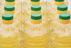 солнцецвет масла бутылки Стоковые Фото