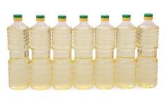 солнцецвет масла бутылки Стоковая Фотография RF