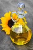 солнцецвет масла бутылки Стоковые Изображения