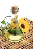 солнцецвет масла бутылки Стоковое фото RF
