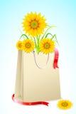 солнцецвет мешка полный иллюстрация штока