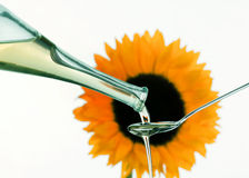 солнцецвет пищевого масла предпосылки Стоковая Фотография
