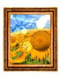 солнцецвет рамок Стоковое Изображение RF