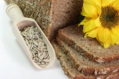 солнцецвет семян зерна хлеба multi Стоковые Фото