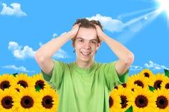 солнцецвет человека сада Стоковое фото RF