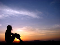 солнце вечера Стоковая Фотография