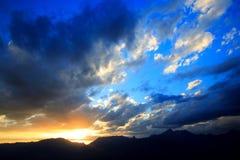 солнце взрыва Стоковое Изображение