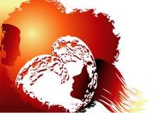 солнце влюбленности предпосылки Стоковая Фотография RF