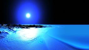 Солнце в венчике над пустыней льда видеоматериал