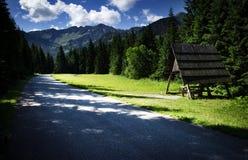 Солнце в стране горы Стоковое Изображение