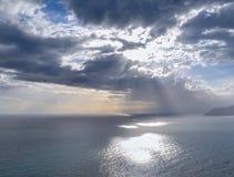 Солнце в terre Cinque стоковое изображение