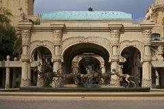 солнце гостиницы города Африки потерянное южное Стоковые Изображения RF