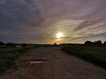 солнце дороги к стоковая фотография rf