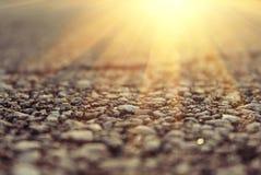 солнце дороги Стоковая Фотография RF