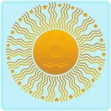 солнце евро стоковая фотография