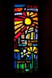 солнце запятнанное стеклом Стоковые Фото