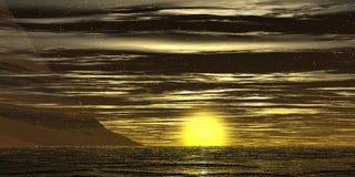 солнце зарева Стоковое Изображение